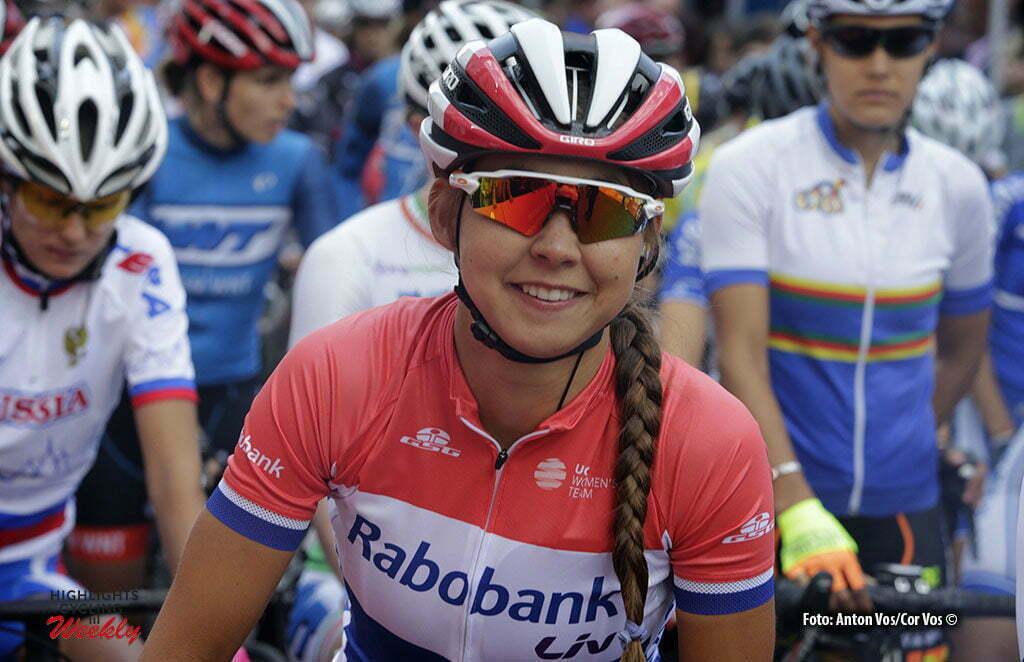 Gotha - Germany - wielrennen - cycling - radsport - cyclisme - Koster Anouska (Netherlands / Rabobank Liv Women Cycling Team) pictured during stage 1 of the Thuringen - Rundfahrt for women Rund um Gotha - photo Anton Vos/Cor Vos © 2016