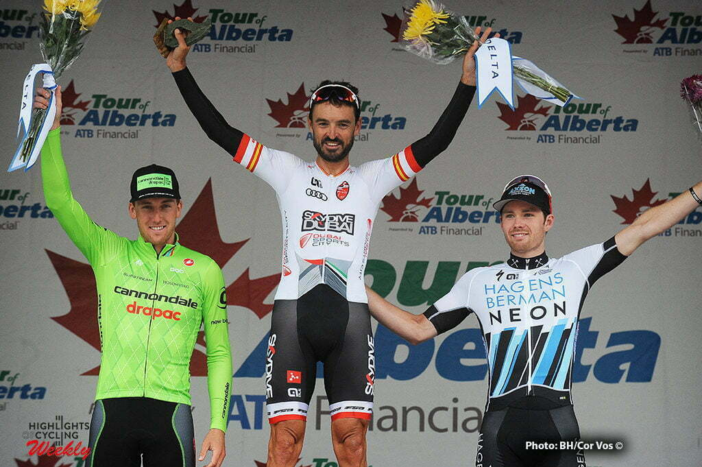 Edmonton - Canada - wielrennen - cycling - radsport - cyclisme - Skjerping Kristoffer (Norway / Cannondale Drapac Pro Cycling Team) - Francisco Mancebo (Skydive Dubai Pro Cycling Team - Al Ahli Club) - Peter Disera (H&R Block Pro Cycling) pictured during Stage 5 of the Tour of Alberta 2016 from Edmonton to Edmonton - criterium - photo Brian Hodes/Cor Vos © 2016