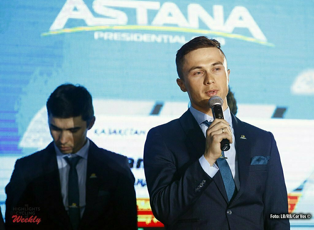 Astana - Kazachstan - wielrennen - cycling - radsport - cyclisme - Alexey Lutsenko pictured during Presentation Astana Pro Team 2017 - photo LB/RB/Cor Vos © 2016