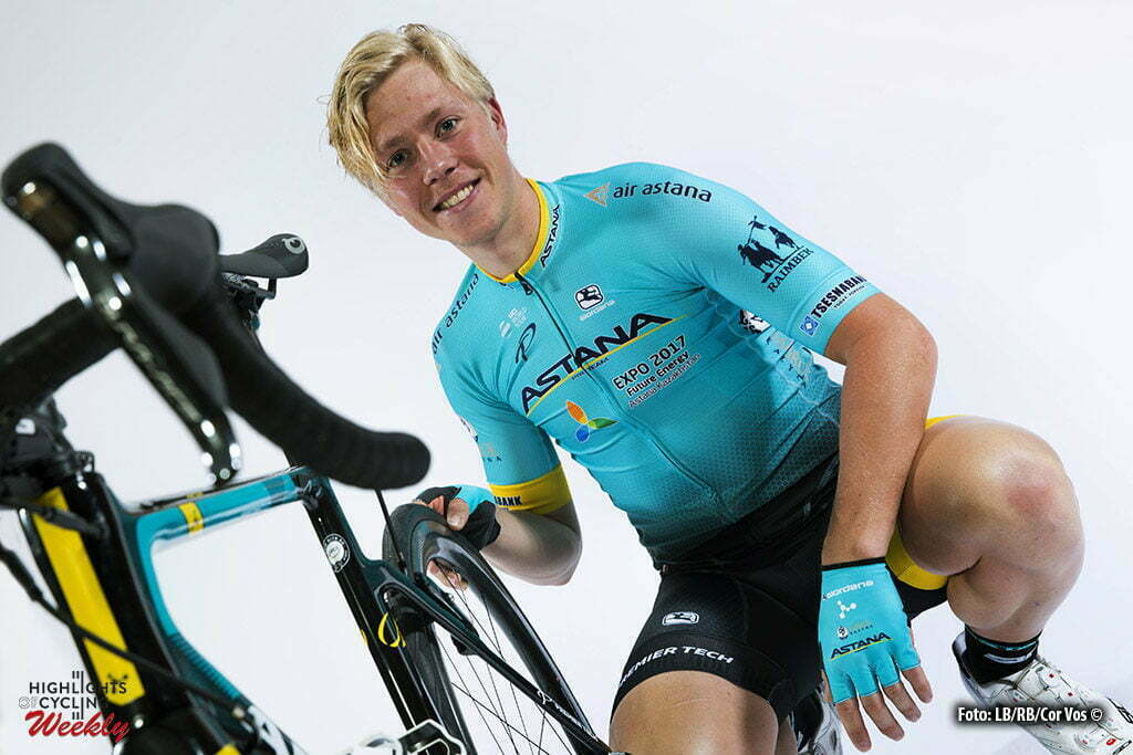 Calpe - Spain - Cycling - radsport - cyclisme - wielrennen - Michael Valgren pictured during the team photoshoot of Team Astana in Calpe, Spain - foto LB/RB/Cor Vos © 2017
