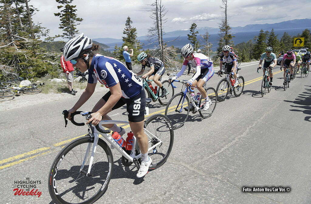 Lake Tahoe - USA - wielrennen - cycling - radsport - cyclisme - Aliya Traficante (USA) pictured during stage - 1 of the the Amgen Breakaway From Heart Disease Women's Race from Lake Tahoe to Lake Tahoe - photo Anton Vos/Cor Vos © 2016