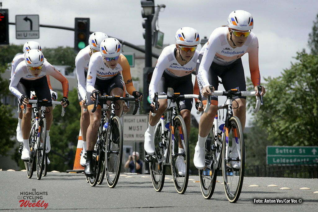 Folsom - USA - wielrennen - cycling - radsport - cyclisme - Rabobank Liv Women Cycling Team pictured during stage - 2 of the Amgen Breakaway From Heart Disease Women's Race from Folsom to Folsom TTT 20,3 km - photo Anton Vos/Cor Vos © 2016