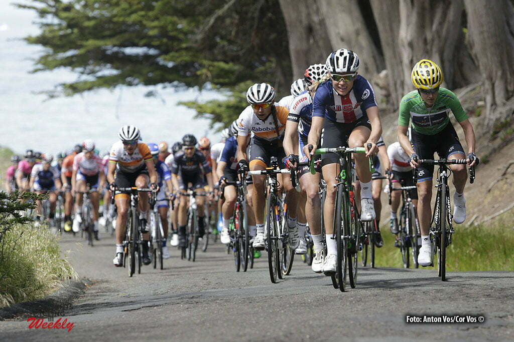 Santa Rosa - USA - wielrennen - cycling - radsport - cyclisme - Wiles Tayler (USA / Orica AIS) - Johansson Emma (Sweden / Wiggle High5) - Koster Anouska (Netherlands / Rabobank Liv Women Cycling Team) - Vos Marianne (Netherlands / Rabobank Liv Women Cycling Team) pictured during stage - 3 of the Amgen Breakaway From Heart Disease Women's Race from Santa Rosa to Santa Rosa - photo Anton Vos/Cor Vos © 2016