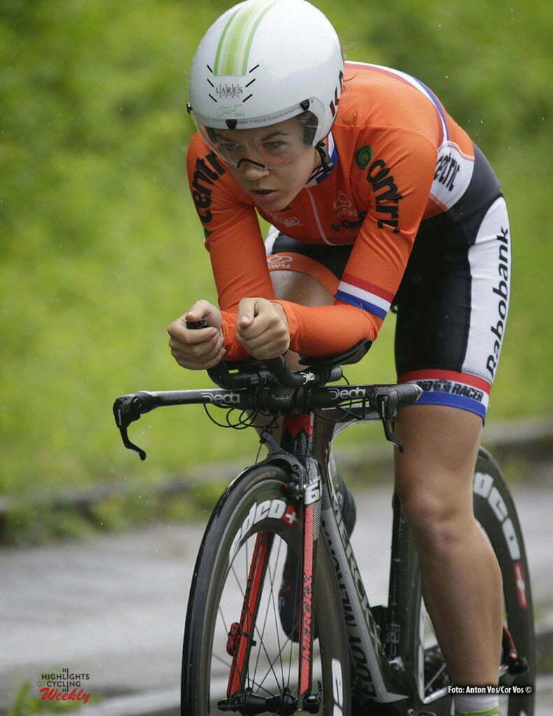 Auenstein - Germany - wielrennen - cycling - radsport - cyclisme - Van Hoek Lotte (Netherlands / Lares - Waowdeals) pictured during stage 2 of the Auensteiner Radsporttage - photo Anton Vos/Cor Vos © 2016