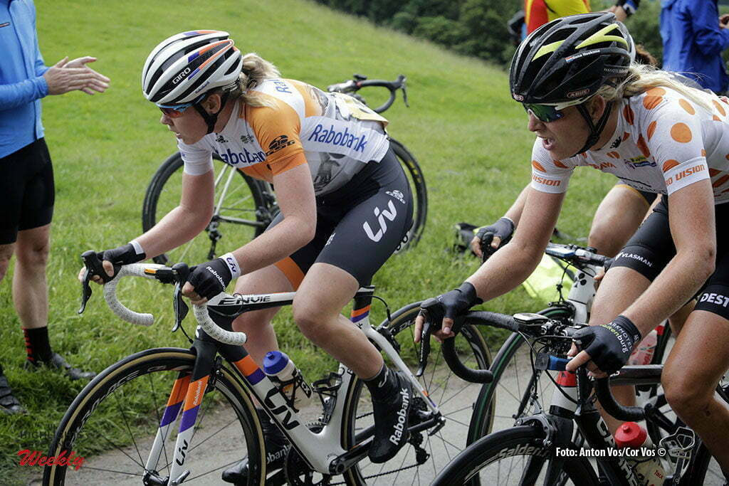 Stratford-upon-Avon - England - wielrennen - cycling - radsport - cyclisme - Van der Breggen Anna (Netherlands / Rabobank Liv Women Cycling Team) - Hoeksma Ilona (Netherlands / Parkhotel Valkenburg) pictured during Women's Tour of Great Britain stage- 2 from Atherstone to Stratford-upon-Avon - photo Anton Vos/Cor Vos © 2016