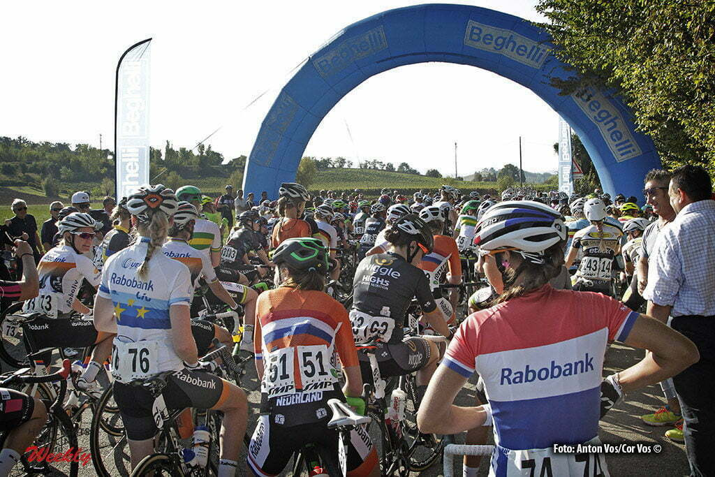 Monteveglio - Italy - wielrennen - cycling - radsport - cyclisme - Koster Anouska (Netherlands / Rabobank Liv Women Cycling Team) illustration - sfeer - illustratie pictured during Gran Premio Bruno Beghelli Internazionale Donne Elite - photo Anton Vos/Cor Vos © 2016