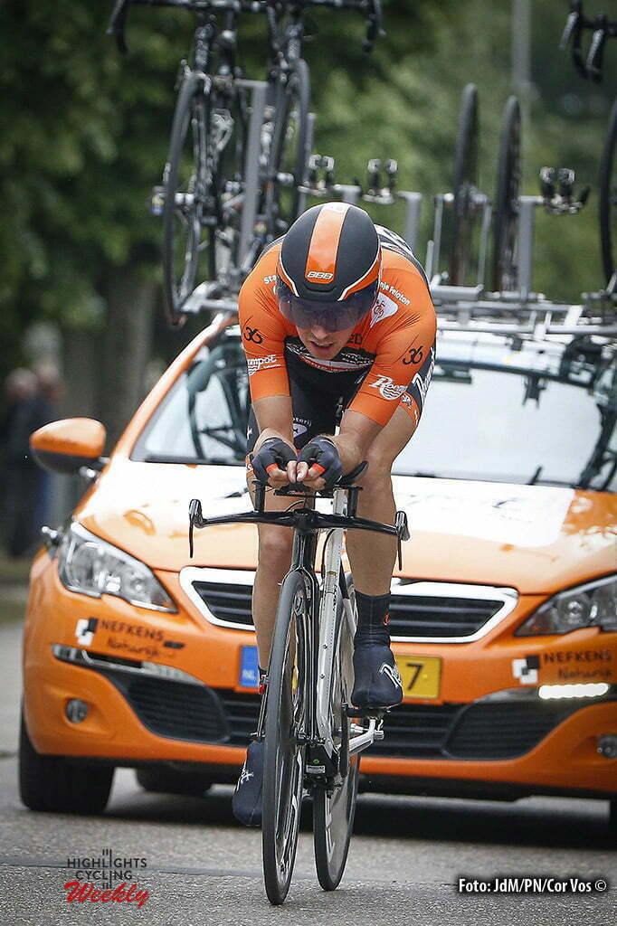 Beveren - Belgium - wielrennen - cycling - radsport - cyclisme - Brian van Goethem (Netherlands / Roompot - Oranje Peloton) pictured during stage 1 of the 2016 Baloise Belgium Tour cycling race in Beveren, Belgium - photo JdM/PN/Cor Vos © 2016