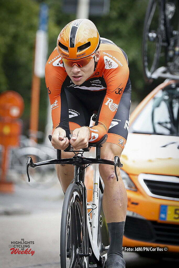 Beveren - Belgium - wielrennen - cycling - radsport - cyclisme - Sjoerd van Ginneken (Netherlands / Roompot - Oranje Peloton) pictured during stage 1 of the 2016 Baloise Belgium Tour cycling race in Beveren, Belgium - photo JdM/PN/Cor Vos © 2016