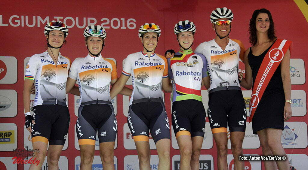 Moorslede - Belgium - wielrennen - cycling - radsport - cyclisme - Rabobank Liv Women Cycling Team pictured during the Lotto Belgium Tour stage 2 - photo Anton Vos/Cor Vos © 2016