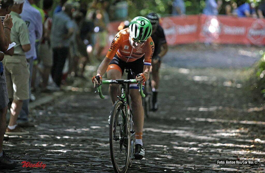 Geraardsbergen - Belgium - wielrennen - cycling - radsport - cyclisme - Van Vleuten Annemiek (Netherlands / Orica AIS) pictured during the Lotto Belgium Tour stage 3 - photo Anton Vos/Cor Vos © 2016