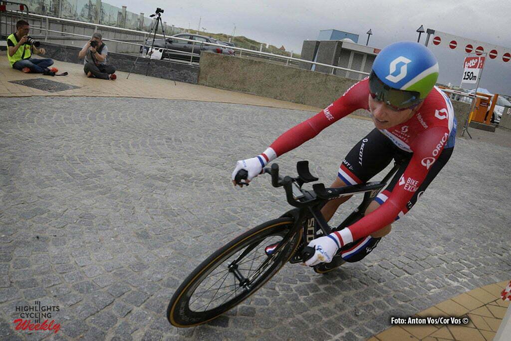 Nieuwpoort - Belgium - wielrennen - cycling - radsport - cyclisme - Van Vleuten Annemiek (Netherlands / Orica AIS) pictured during the Lotto Belgium Tour stage 1 - prologue in Nieuwpoort - photo Anton Vos/Cor Vos © 2016