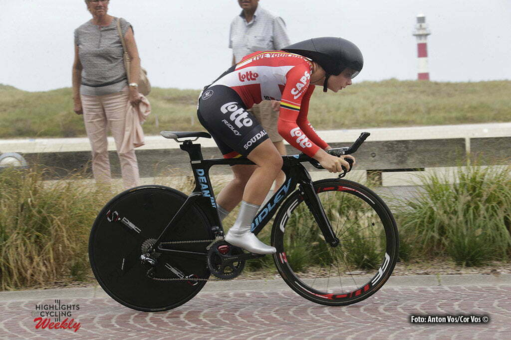 Nieuwpoort - Belgium - wielrennen - cycling - radsport - cyclisme - Kopecky Lotte (Belgium / Lotto Soudal Ladies) pictured during the Lotto Belgium Tour stage 1 - prologue in Nieuwpoort - photo Anton Vos/Cor Vos © 2016