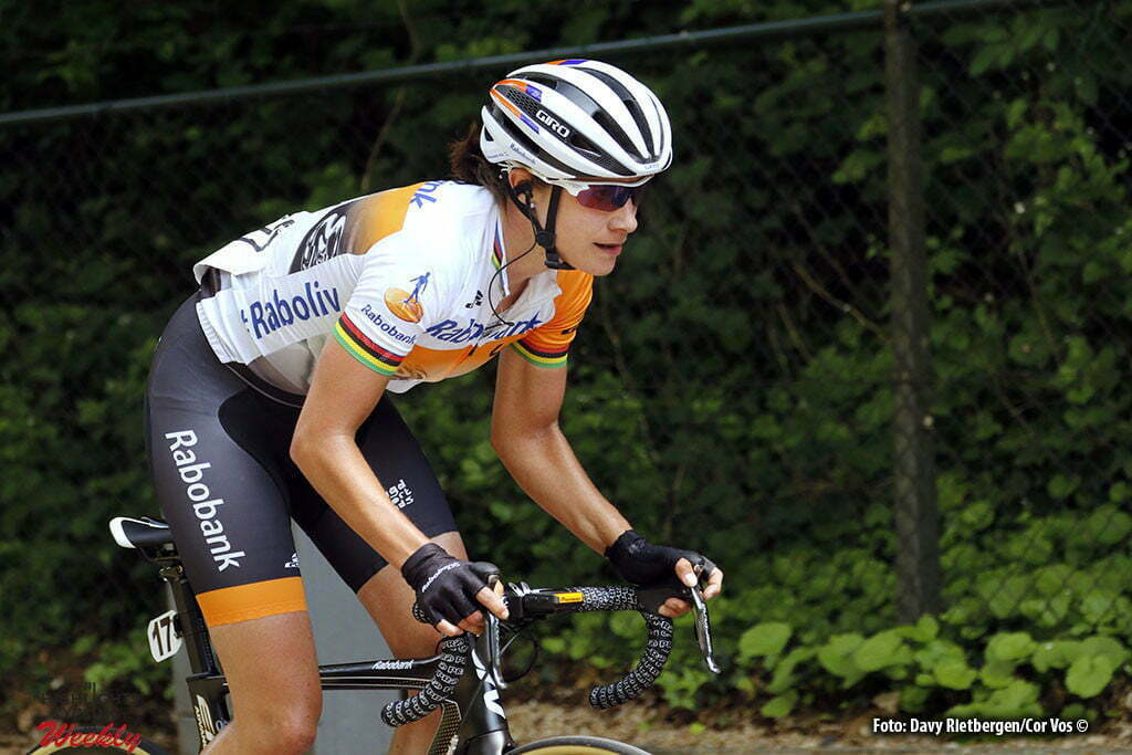 Berg en Terblijt - Netherlands - wielrennen - cycling - radsport - cyclisme - Vos Marianne (Netherlands / Rabobank Liv Women Cycling Team) pictured during the Boels Hills Classic 2016 from Sittard to Berg en Terblijt - women's cyclingrace - photo Davy Rietbergen//Cor Vos © 2015