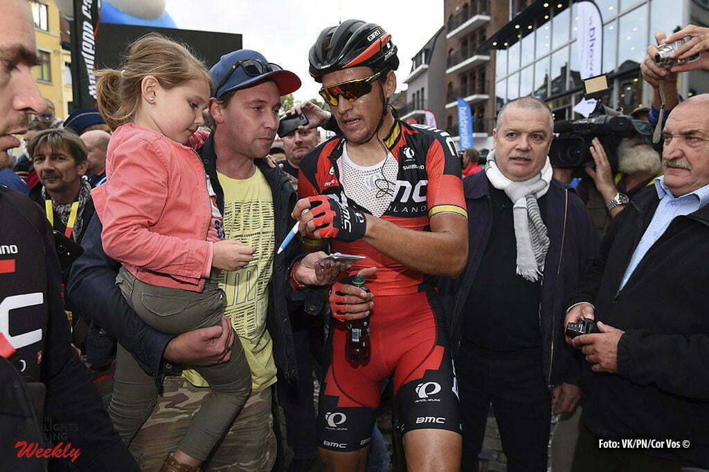 Binche - Belgium - wielrennen - cycling - radsport - cyclisme - Greg Van Avermaet (Belgium / BMC Racing Team) pictured during the Belgian Cycling Cup Binche - Chimay - Binche (195 kms) Memorial Frank Vandenbroucke on October 04, 2016 in Binche, Belgium, 4/10/2016 - photo VK/PN/Cor Vos © 2016