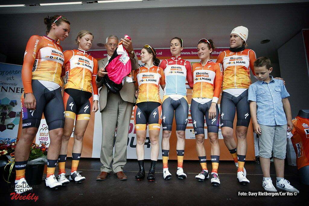 Gennep - Netherlands - wielrennen - cycling - radsport - cyclisme - Boels Dolmans Cycling Team pictured during the Boels Ladies Tour stage 2 from Gennep to Gennep TTT - photo Davy Rietbergen/Cor Vos © 2016