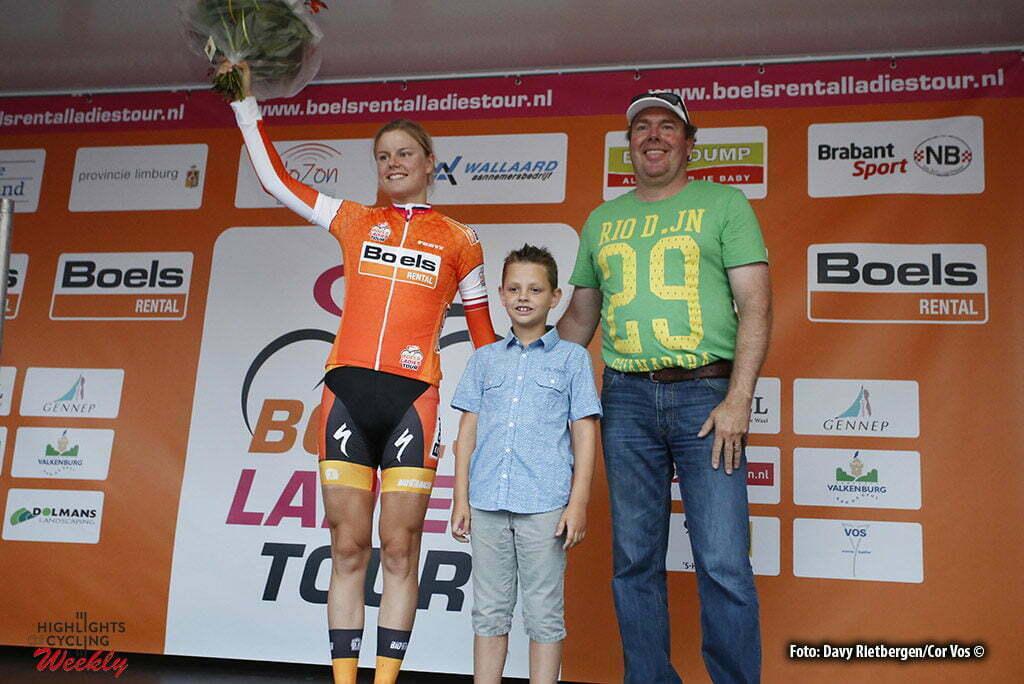 Gennep - Netherlands - wielrennen - cycling - radsport - cyclisme - Dideriksen Amalie (Denmark / Boels Dolmans Cycling Team) - Yvo Hoppers ( Boels Rental) pictured during the Boels Ladies Tour stage 2 from Gennep to Gennep TTT - photo Davy Rietbergen/Cor Vos © 2016