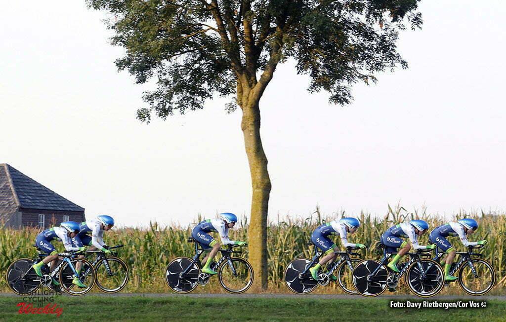 Gennep - Netherlands - wielrennen - cycling - radsport - cyclisme - Orica AIS pictured during the Boels Ladies Tour stage 2 from Gennep to Gennep TTT - photo Davy Rietbergen/Cor Vos © 2016