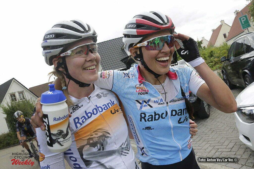 Valkenburg - Netherlands - wielrennen - cycling - radsport - cyclisme - Niewiadoma Katarzyna Kasia (Poland / Rabobank Liv Women Cycling Team) Van der Breggen Anna (Netherlands / Rabobank Liv Women Cycling Team) pictured during the Boels Ladies Tour stage 6 from Bunde to Valkenburg - photo Anton Vos/Cor Vos © 2016