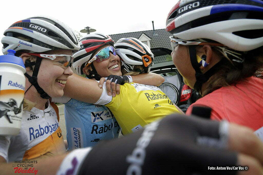 Valkenburg - Netherlands - wielrennen - cycling - radsport - cyclisme - Niewiadoma Katarzyna Kasia (Poland / Rabobank Liv Women Cycling Team) Knetemann Roxane (Netherlands / Rabobank Liv Women Cycling Team) Van der Breggen Anna (Netherlands / Rabobank Liv Women Cycling Team) Koster Anouska (Netherlands / Rabobank Liv Women Cycling Team) pictured during the Boels Ladies Tour stage 6 from Bunde to Valkenburg - photo Anton Vos/Cor Vos © 2016