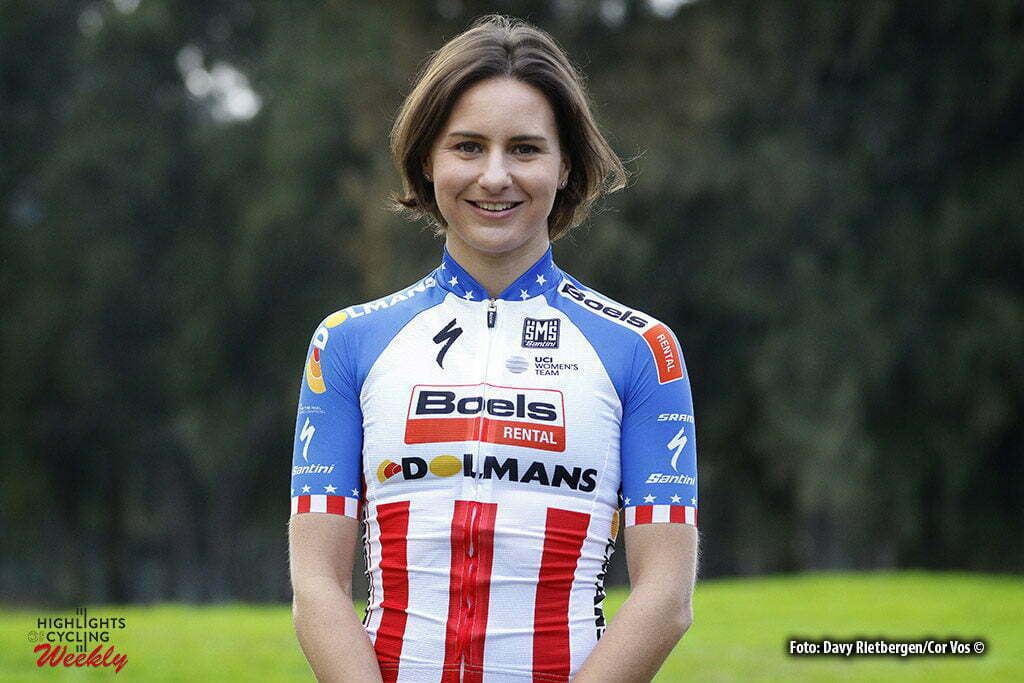 Calpe - Spain - wielrennen - cycling - radsport - cyclisme - Megan Guarnier (USA / Boels Dolmans Cycling Team) pictured during fotoshoot team Boels - Dolmans 2017 in Calpe, Spain - photo Davy Rietbergen/Cor Vos © 2016