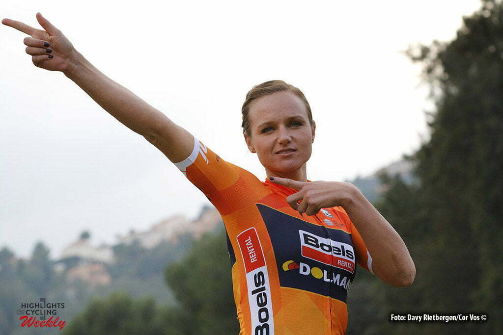 Calpe - Spain - wielrennen - cycling - radsport - cyclisme - Chantal Blaak (Netherlands / Boels Dolmans Cycling Team) pictured during fotoshoot team Boels - Dolmans 2017 in Calpe, Spain - photo Davy Rietbergen/Cor Vos © 2016