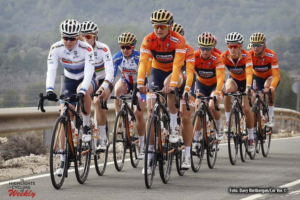 Calpe - Spain - wielrennen - cycling - radsport - cyclisme - Amalie Dideriksen -Anna van der Breggen - Katarzyna Kasia Niewiadoma (Poland / Rabobank Liv Women Cycling Team) pictured during fotoshoot team Boels - Dolmans 2017 in Calpe, Spain - photo Davy Rietbergen/Cor Vos © 2016