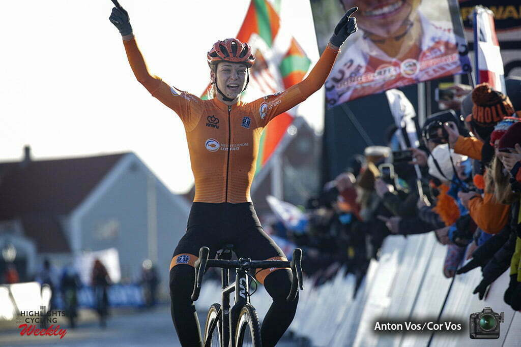 WK cyclocross in Bogense beloften vrouwen