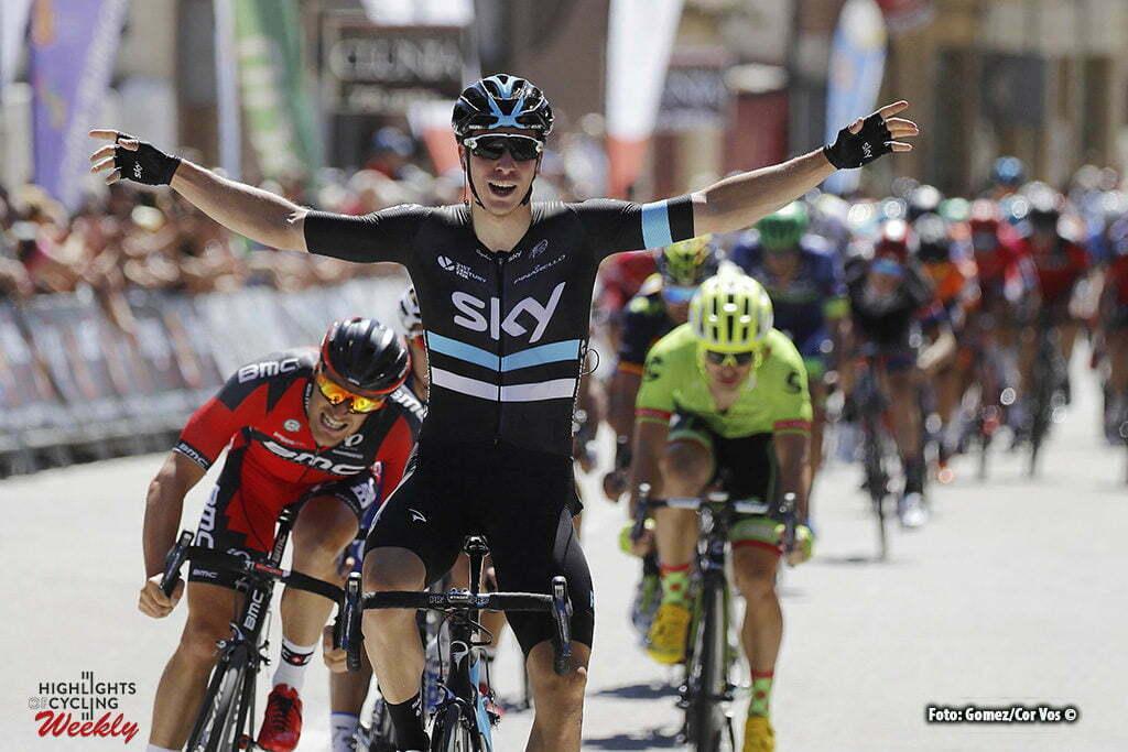 Melgar de Fernamental - Spain - wielrennen - cycling - radsport - cyclisme - Danny Van Poppel (Netherlands / Team Sky) pictured during Vuelta a Burgos 2016 stage 1 from Sasamon to Melgar de Fernamental - photo Louis Angel Gomez/Cor Vos © 2016