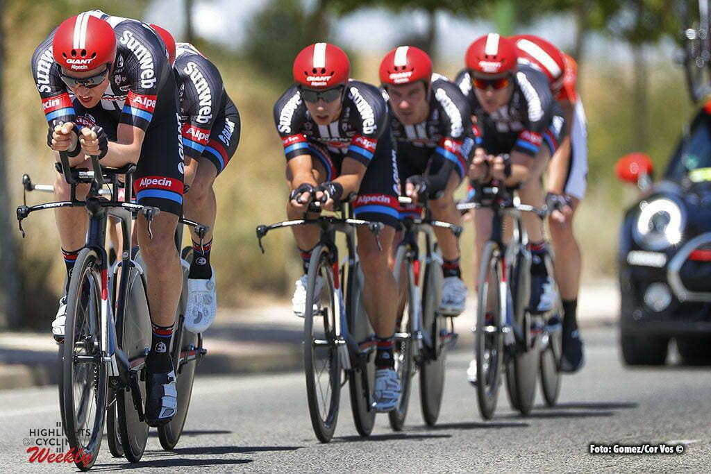 Burgos - Spain - wielrennen - cycling - radsport - cyclisme - Team Giant - Alpecin pictured during Vuelta a Burgos 2016 stage 2 from Burgos to Burgos TTT 10.7 KM - photo Louis Angel Gomez/Cor Vos © 2016