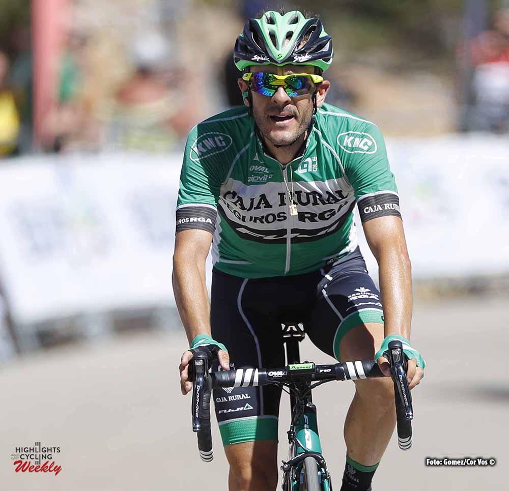 Lagunas de Neila - Spain - wielrennen - cycling - radsport - cyclisme - Sergio Pardilla (Caja Rural - Seguros) pictured during Vuelta a Burgos 2016 stage 5 from Caleruega - Lagunas de Neila - photo Louis Angel Gomez/Cor Vos © 2016