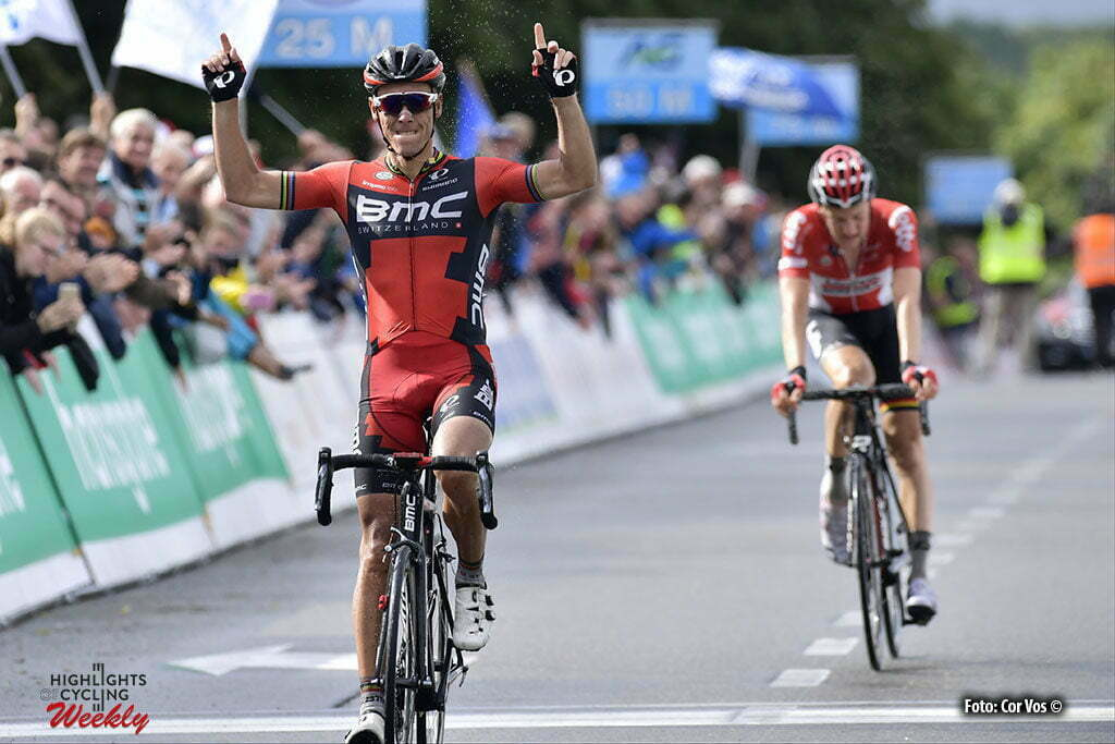 Boussu-Lez-Walcourt - Belgium - wielrennen - cycling - radsport - cyclisme - Philippe Gilbert (Belgium / BMC Racing Team) - Tim Wellens (Belgium / Team Lotto Soudal) pictured during the 2016 Belgian national championship cycling race elite men with start and finish in Boussu-Lez-Walcourt (231 km) - photo NV/PN/Cor Vos © 2016