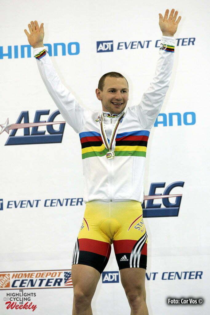 Los Angeles - USA - wielrennen-cycling-cyclisme-WM Bahn - Bahnradsport - Bahnradrennen -Championat du Monde Piste- Worlds Track- WK Baan - Rene Wolff (BDR /Duitsland)- foto Cor Vos ©2005