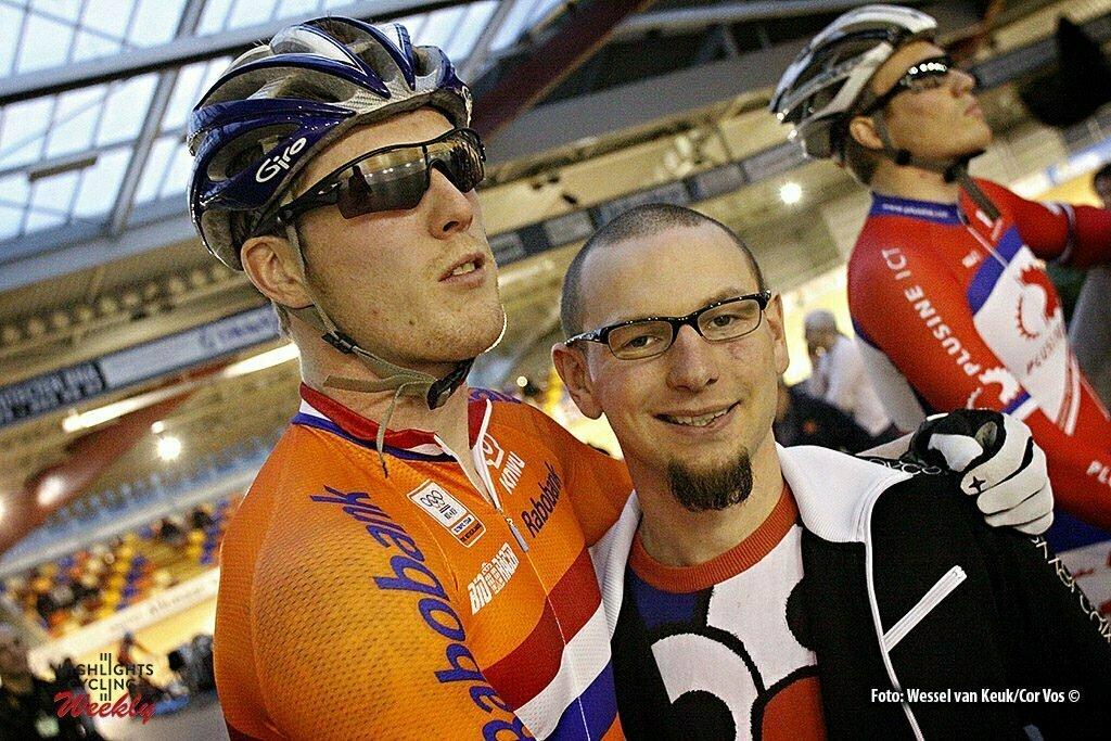 Alkmaar - wielrennen - cycling - radsport - cyclisme - baan - track - piste - NK Baan 2009 - Keirin - Roy van den Berg - Rene Wolff - foto Wessel van Keuk/Cor Vos ©2009
