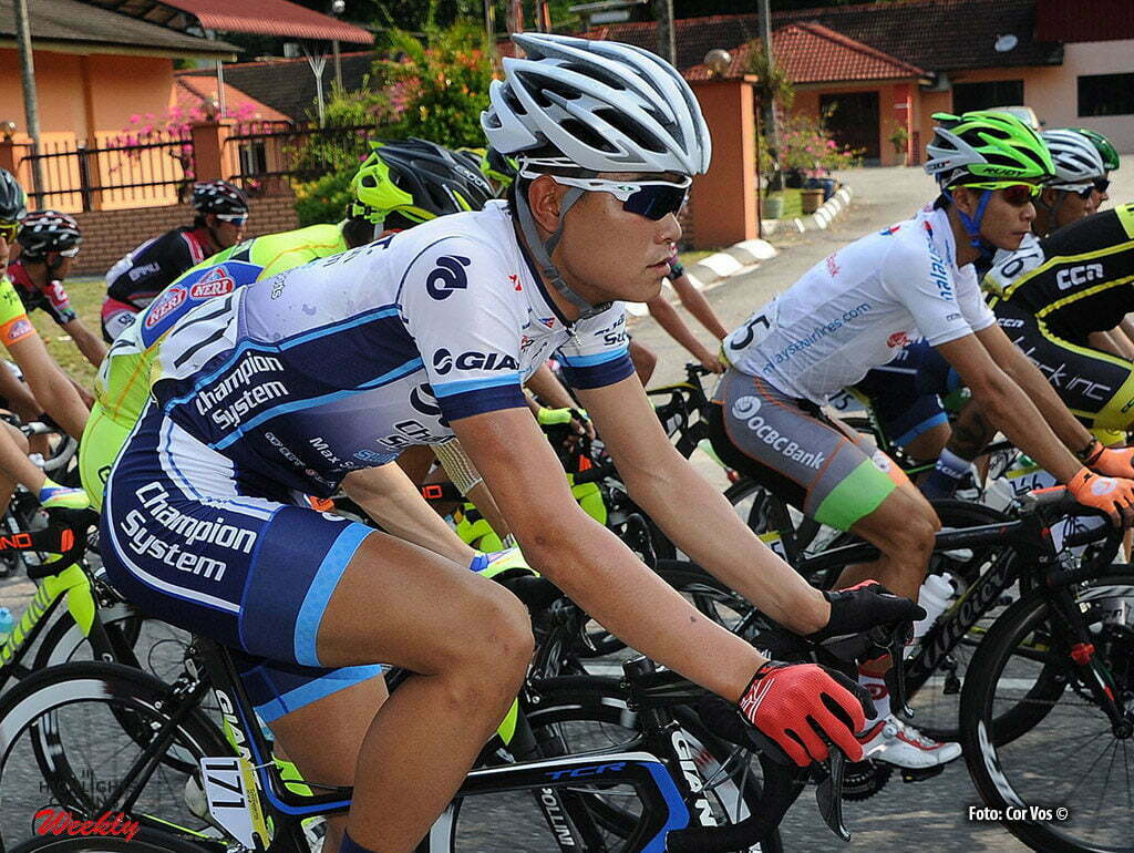Kuala Lumpur - Malaysia - wielrennen - cycling - radsport - cyclisme - Zhi Hui Jiang (Giant - Champion) pictured during stage 3 of the Tour de Langkawi 2014 - from Kampar to Kuala Lumpur 166.5 km - photo Cor Vos © 2014