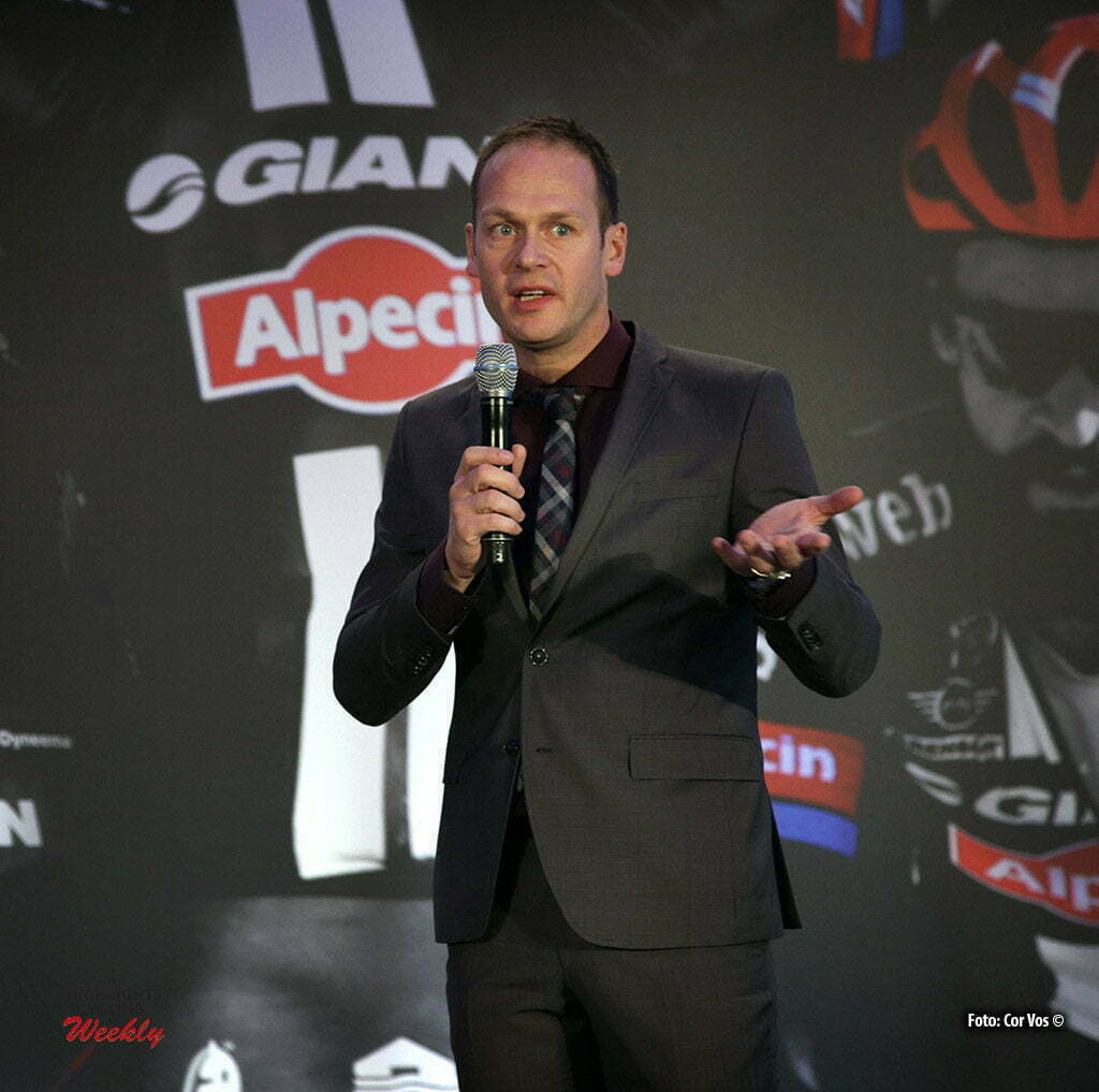 Berlijn - Germany - wielrennen - cycling - radsport - cyclisme - Iwan Spekenbrink (Netherlands / Teammanager Team Giant - Alpecin) pictured during the presentation/ Team Launch of Team Giant - Alpecin in the Italian Embassy - foto Carla Vos/Cor Vos © 2016