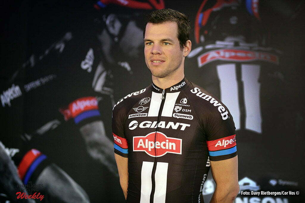 Berlijn - Germany - wielrennen - cycling - radsport - cyclisme - Tom Veelers (Netherlands / Team Giant - Alpecin) pictured during the presentation/ Team Launch of Team Giant - Alpecin in the Italian Embassy - foto Davy Rietbergen/Cor Vos © 2016