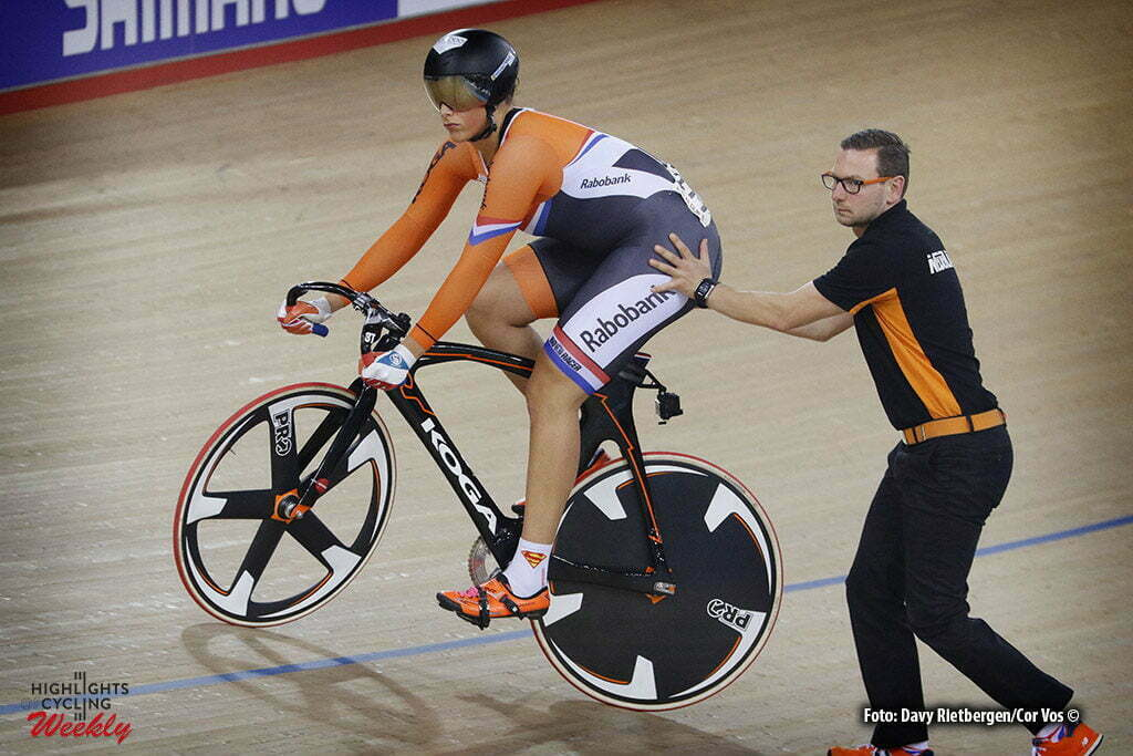 London - Great Brittain - wielrennen - cycling - radsport - cyclisme - Keirin - Elis Ligtlee - Rene Wolff pictured during Worldchampionships Track 2016 in London (GBR) - photo Davy Rietbergen/Cor Vos © 2016