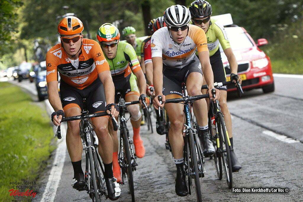 La Gileppe (Jalhay) - Belgium - wielrennen - cycling - radsport - cyclisme - Slik Ivar (Netherlands / Roompot - Oranje Peloton) - Peter Lenderink (Rabobank Development Team) pictured during stage 4 of the Ster ZLM Toer - GP Jan van Heeswijk 2016 in La Gileppe, Belgium - photo Dion Kerckhoffs/Cor Vos © 2016