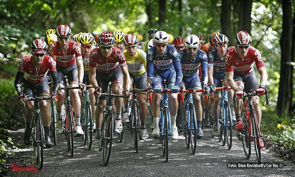 La Gileppe (Jalhay) - Belgium - wielrennen - cycling - radsport - cyclisme - Maxime Monfort (Belgium / Team Lotto Soudal) - Andre Greipel (Germany / Team Lotto Soudal) pictured during stage 4 of the Ster ZLM Toer - GP Jan van Heeswijk 2016 in La Gileppe, Belgium - photo Dion Kerckhoffs/Cor Vos © 2016