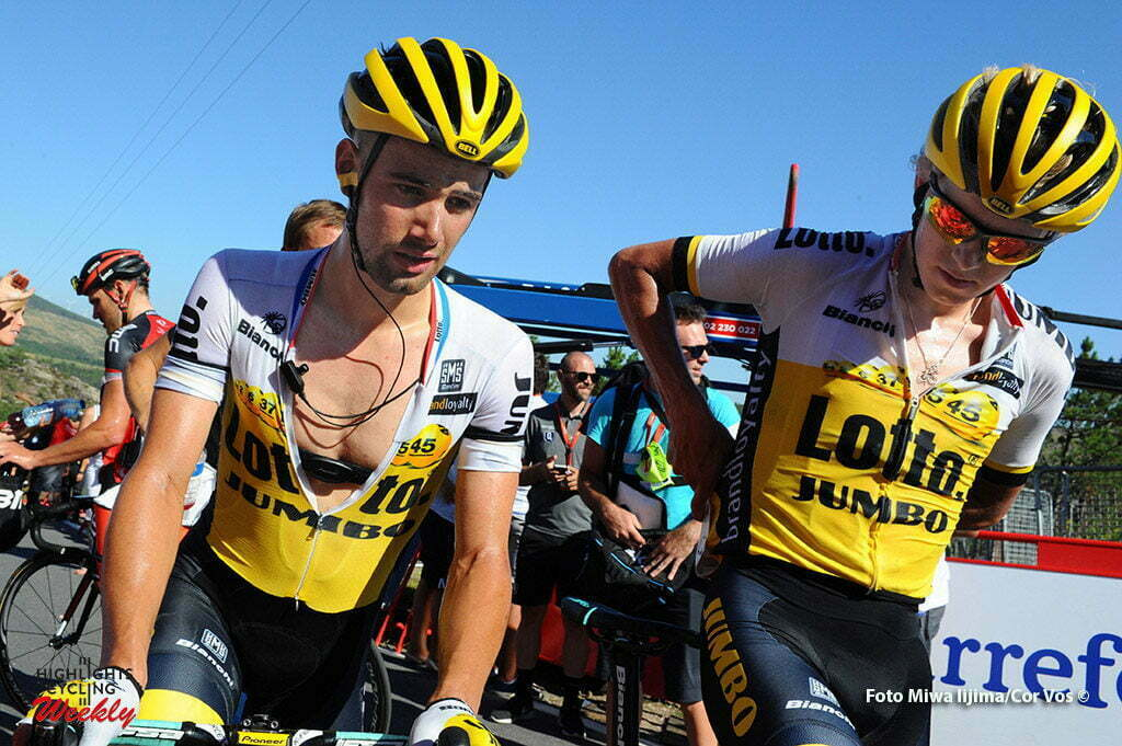 Victor Campenaerts (Team LottoNL - Jumbo) - Steven Kruijswijk (Team LottoNL - Jumbo) foto Miwa iijima/Cor Vos © 2016