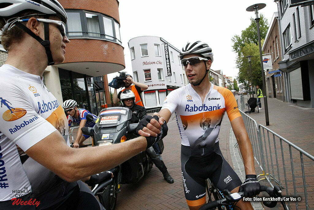 Kerkrade - Netherlands - wielrennen - cycling - radsport - cyclisme - Cees Bol (Rabobank Development Team) - Jeroen Meijers (Rabobank Development Team) pictured during the Eurode Omloop - photo Dion Kerckhoffs/Cor Vos © 2016