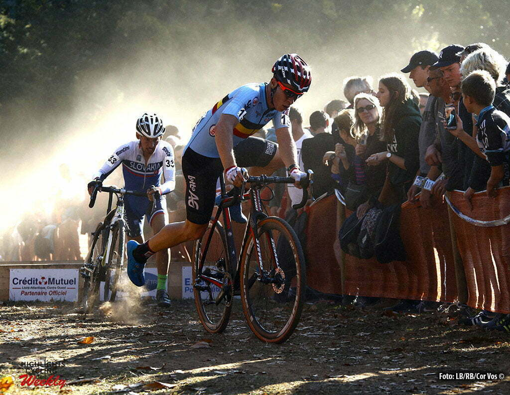 Pont-Chateau - France - cyclocross wielrennen - cycling - radsport - Wout van Aert (Belgium) pictured during the European Championships for elite men in Pont-Chateau - photo RB/RB/Cor Vos © 2016