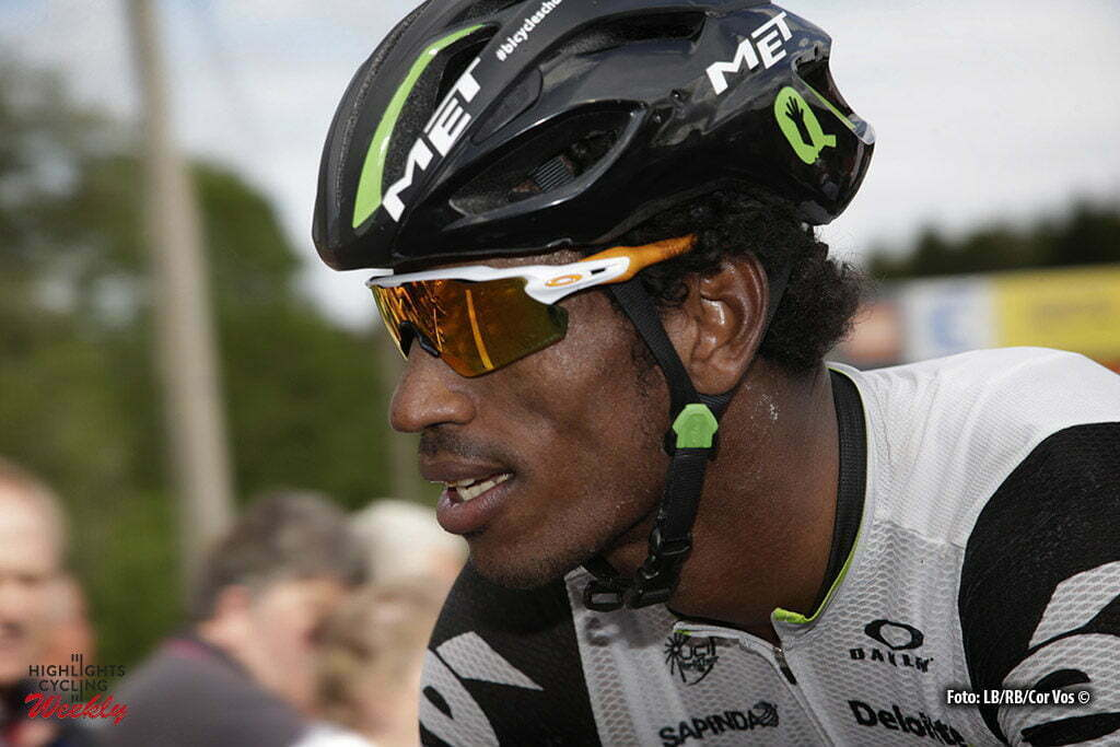 Vaujany - France - wielrennen - cycling - radsport - cyclisme - Teklehaimanot Daniel (Eritrea / Team Dimension Data) pictured during stage 5 of the Criterium du Dauphine 2016 from La Ravoire to Vaujany (140 KM) - photo LB/RB//Cor Vos © 2016