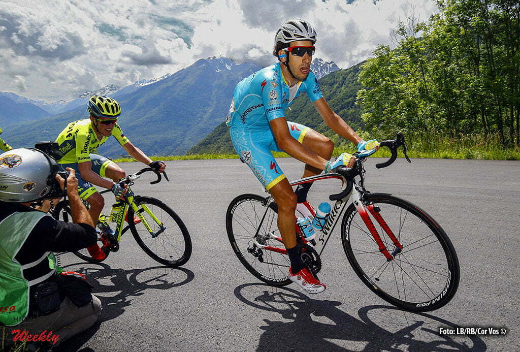 Méribel - France - wielrennen - cycling - radsport - cyclisme - Aru Fabio (Italie / Team Astana) pictured during stage 6 of the Critérium du Dauphiné 2016 from La Rochette to Méribel (141 KM) - photo Davy Rietbergen/Cor Vos © 2016