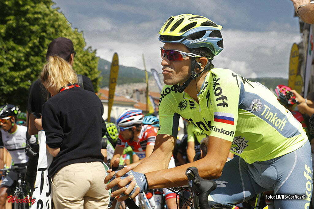 Superdévoluy - France - wielrennen - cycling - radsport - cyclisme - Alberto Contador Velasco (Spain / Team Tinkoff - Tinkov) pictured during stage 7 of the Critérium du Dauphiné 2016 from Le Pont-de-Claix to Superdévoluy (151 KM) - photo LB/RB/Cor Vos © 2016