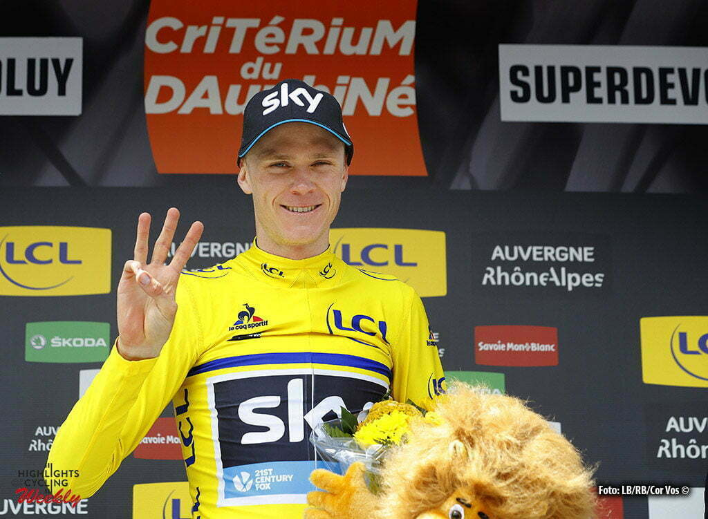 Superdévoluy - France - wielrennen - cycling - radsport - cyclisme - Christopher Froome (Team Sky) pictured during stage 7 of the Critérium du Dauphiné 2016 from Le Pont-de-Claix to Superdévoluy (151 KM) - photo LB/RB/Cor Vos © 2016