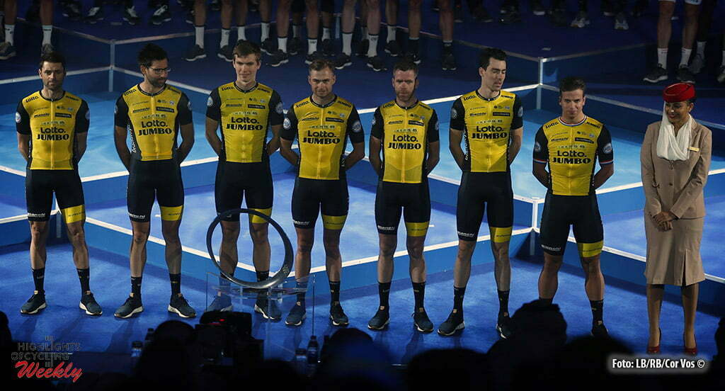 Dubai – wielrennen – cycling – cyclisme – radsport – TEAM LOTTO NL – JUMBO  pictured during team-presentation of the 5th edition of the Dubai Tour –  photo ... a04c182a3