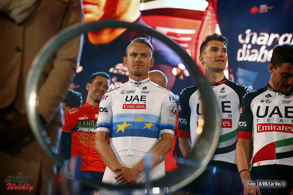 Dubai – wielrennen – cycling – cyclisme – radsport – Alexander Kristoff  (NOR – UAE Team Emirates) pictured during team-presentation of the 5th  edition of ... 7d8d5ac14