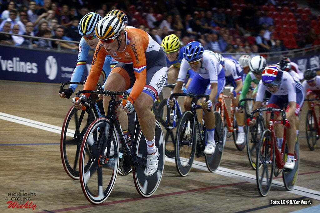 Saint Quintin-en-Yveniles - France - wielrennen - cycling - radsport - cyclisme - Kirsten Wild takes gold in pointsrace women elite pictured during European Track Championships cycling in Saint Quintin-en-Yveniles, France - photo LB/RB/Cor Vos © 2016