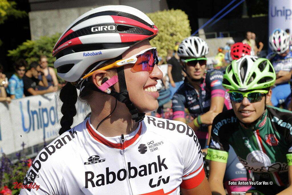 Bologna San Luca - Italy - wielrennen - cycling - radsport - cyclisme - Niewiadoma Katarzyna Kasia (Poland / Rabobank Liv Women Cycling Team) pictured during Giro dell' Emilia Internazionale Donne Elite - photo Anton Vos/Cor Vos © 2016